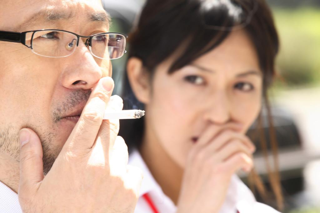 嫌なタバコの臭い